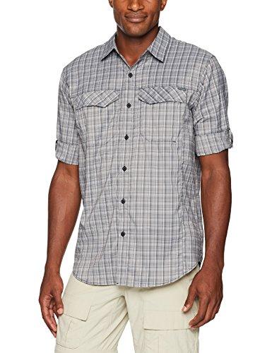 Columbia Mens Silver Ridge Lite Plaid Long Sleeve Shirt, Black Plaid, Medium