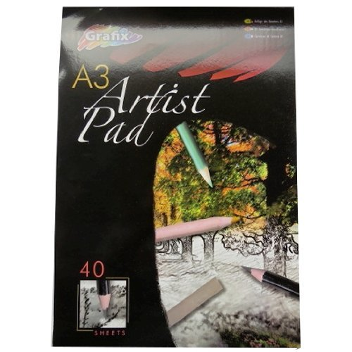 A3 Drawing & Sketching Pad - 40 Sheets - Size 420mm x 297mm RMS International TRTAZ11A