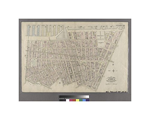 1885 map of New York Plate 10: Bounded by West Street (Hudson River, Piers 39-47), W. 11th Street, 13th Avenue (Hudson River, Piers 52-59), W. 14th Street, 7th Avenue, Greenwich - Street New Bleecker York