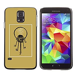 A-type Colorful Printed Hard Protective Back Case Cover Shell Skin for SAMSUNG Galaxy S5 V / i9600 / SM-G900F / SM-G900M / SM-G900A / SM-G900T / SM-G900W8 ( Guitar Keys Meaning Golden Brown )