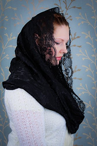Mantilla Veil Black
