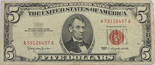 1963 'Red Seal' $5 Dollar (Seal Dollar Bill)