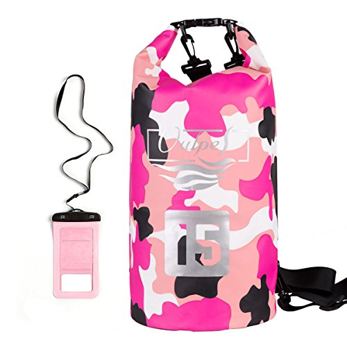 Vulpes Waterproof Dry Bag Camo Dry Sack for Water Sports with Waterproof phone case