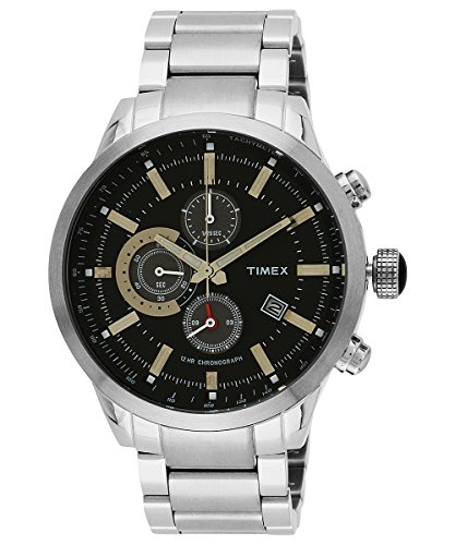 Timex E Class Analog Black Dial Men #39;s Watch   TW000Y402