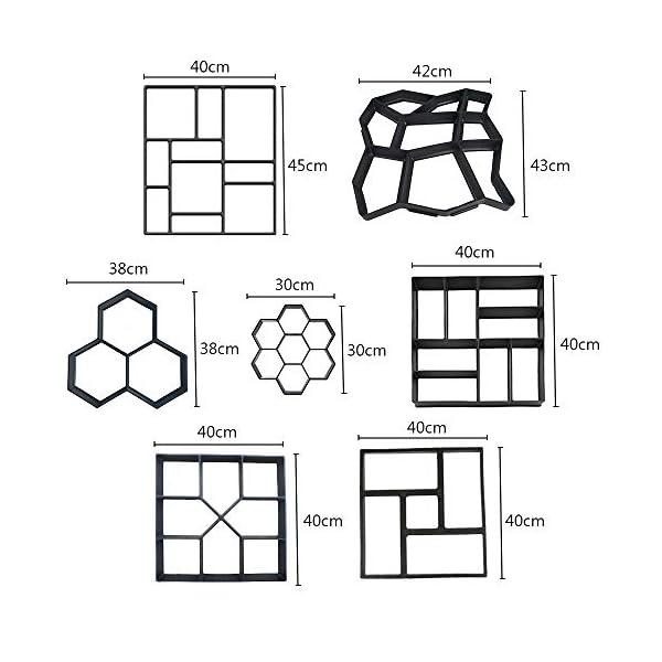 HUANGCHAO-2-PCS-Cemento-di-Pavimento-Manuale-Brick-Concrete-Molle-DIY-Path-Maker-Mold-Garden-Stone-Road-Mold-Garden-Decoration-G296566