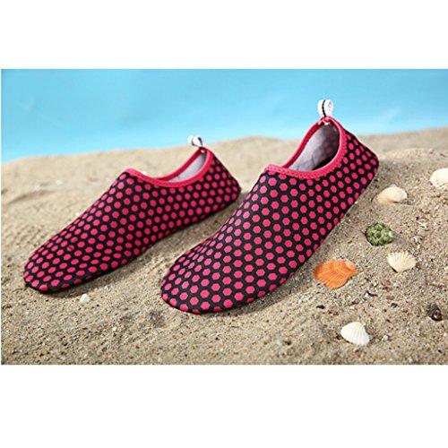 Deportivos 4rojo Aguamarina Buceo Para Playa Zapatos Aqua Surf Descalzo Eagsouni® Natación De Agua Calcetines Shoes aw4ARq