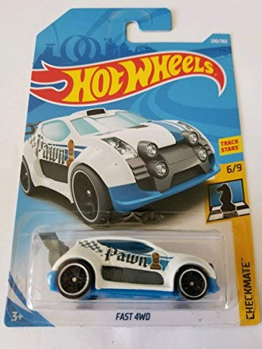 Hot Wheels 2018 Checkmate 6/9 - Fast 4WD (White - Pawn)