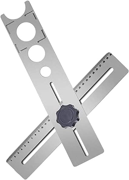 Pour Noyau Scie /à Trou En Marbre En Verre Cceramic Avec Ventouse Base /à Vide QYHSS Localisateur Trou Foret R/éGlable Localisateur Trou Diamant Foret R/éGlable De 4 Mm /à 83 Mm