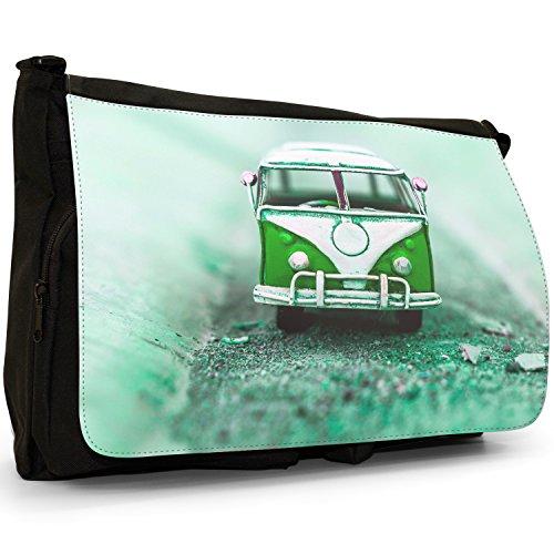 Shoulder Green School Canvas Large Old Laptop Black Van Messenger Camper Bag pwYpqO8v