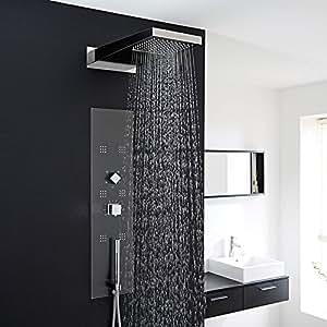 Panel de ducha termost tico hidromasaje empotrado for Duchas electricas modernas