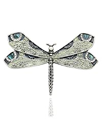 Q&Q Fashion Retro Art Nouveau Victorian Dragonfly Pearl Wing French Lapel Brooch Pin Badge