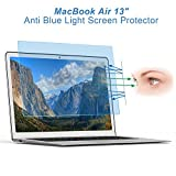 Eye Protection Anti Blue Light Screen Protector for MacBook Air 13 Inch [Lifetime Risk-Free Replacement Warranty]