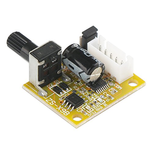 Sensorless Motor Speed Controllers (DROK Mini BLDC 3-Phase Brushless Sensorless Motor Driver Control DC 5V-12V 15W Speed Regulator Controller with Knob)