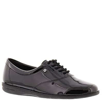 750f105d79 Easy Spirit Womens Motion Leather Closed Toe Oxfords, Black-Patent, Size 8.5