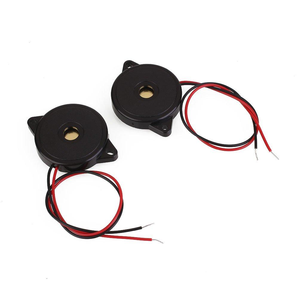 Auntwhale 2 Pcs Mince Ferm/é Piezo /Électronique Buzzer 3-12 VDC Knock Capteur Dalarme Arduino
