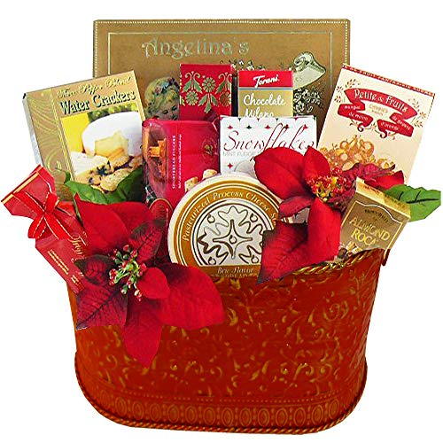 (Season's Greetings Christmas Holiday Gourmet Food Gift Basket)
