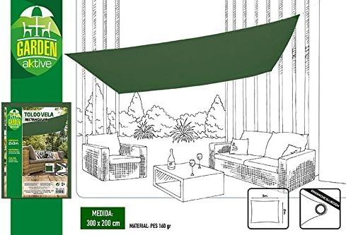 Aktive Garden 53919 - Toldo Vela Verde Oscuro 200 x 300 cm ...