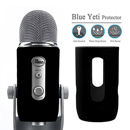 YOUSHARES Blue Yeti Protector – Full Protection Silicon Cover for Yeti & Yeti Pro Microphone (Blackout)