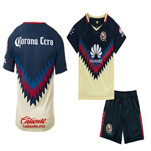 Club America Liga MX 2016 2017 2018 17 18 Soccer Kid Jersey(Club America 2017/18 Home, Kid Size 26 (9-10 Years Old) )