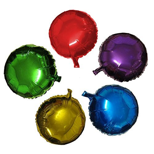 50pcs/lot Round Shape Foil Mylar Helium Balloon 18