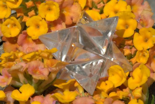 Clear Crystal Quartz Merkaba Star