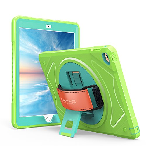 SUPFIVES iPad mini 4 Case  360 Degree Rotation Shock Proof W