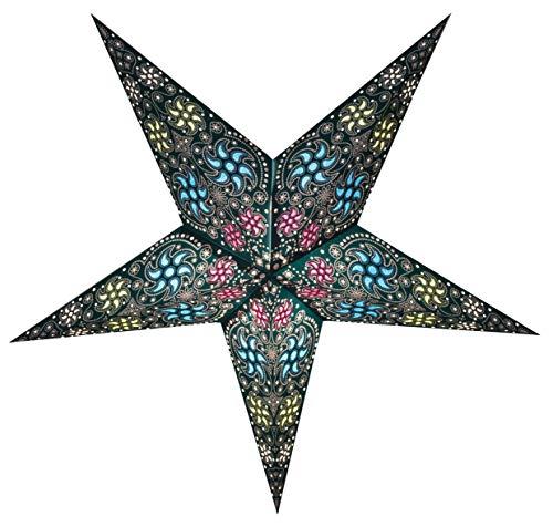 GalaxyArts - Chakra (Turquoise, Medium) - Paper Star Lantern - Handmade ()