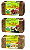 Mestemacher Organic Bread 3 Flavor Variety Bundle - (1) Each: Three Grain, Flax Seed Chia, and Amaranth Quinoa, 12.3-17.6 Ounces