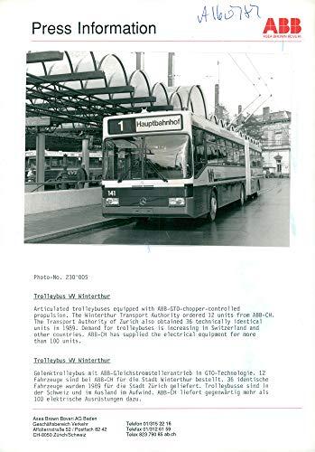 "Vintage photo of Swiss Rail""Trolleybus WV Winterthur"""