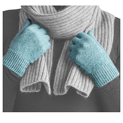 Angora Scarf - Merinomink Merino Gloves, Merino Possum Blend, Mist, Size M, Gloves Only, Not a Set