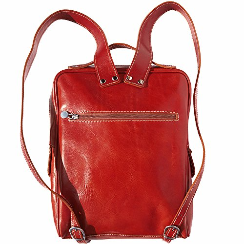 flat unisex Red Backpack purse 6538 0S0dq