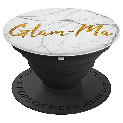 Fun Girly Glam-Ma Grandmother Faux Gold on Marble - PopSockets Grip and Stand for Phones and Tablets