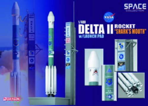 Delta II Rocket `GPS-IIR-16` on Launch Pad Diecast Model Spacecraft by Dragon Models USA ()