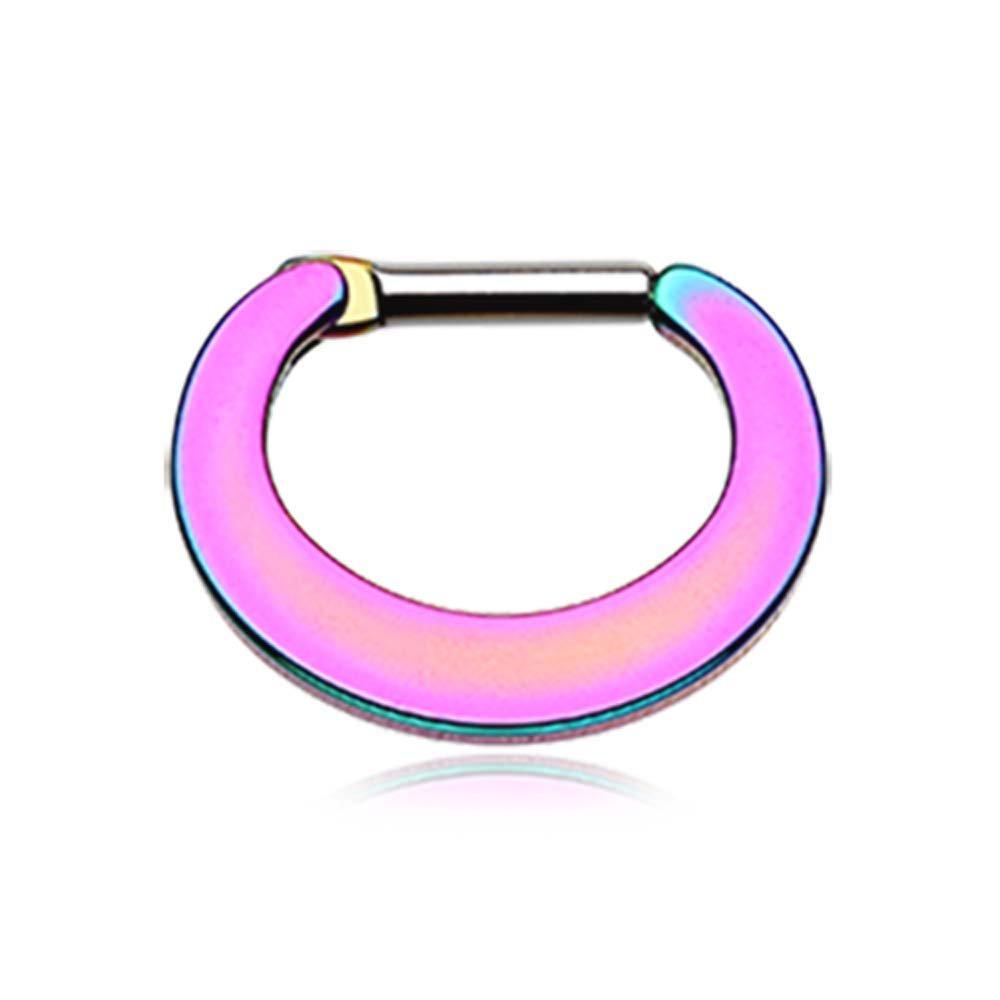 16G - Sold Infividually Colorline Basic Steel Loop Septum Clicker 1.2mm