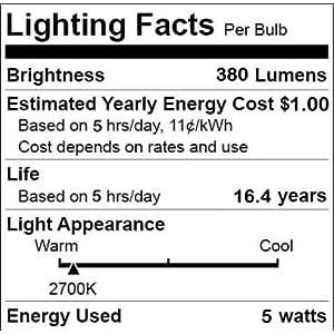 E11 T4 LED Bulbs 4 Pieces Ceiling Fan Light Bulbs Dimmable JDE11 120v 50w T4 Mini Candelabra Light Bulbs 4 Watts 2700k Warm White