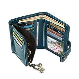 Women's Wallet Genuine Leather Trifold Purse Clutch Organizer Checkbook Holder