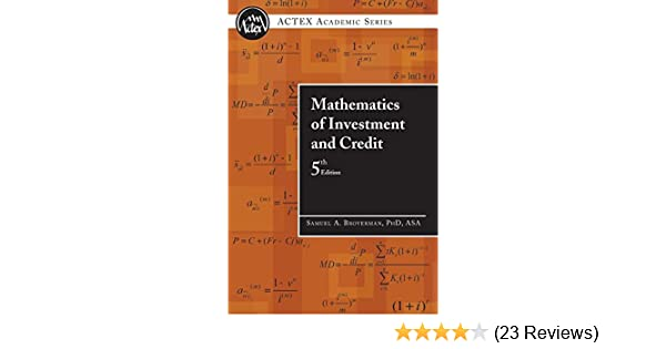 Pdf credit of edition and investment mathematics 5th