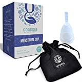 The Goddess Menstrual Cup - No Leaks, Less Cramps, More Comfort - A Reusable Safer Alternative to Tampons and Sanitary Napkins during your period [Size 2 - Large]