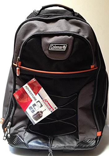 "Coleman Adventure 21"" Rolling Backpack, Black"