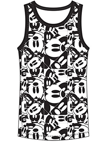 Disney Youth Mickey Mouse Repeat All Over Medium Tank Top