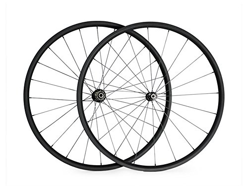 Carbon Road Wheel Sets 700C 20T 23mm Width Carbon 20mm Rim Depth Tubular Wheelset