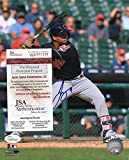 FRANCISCO MEJIA CLEVELAND INDIANS AT BAT SIGNED 8X10 PHOTO W/ JSA WP970339