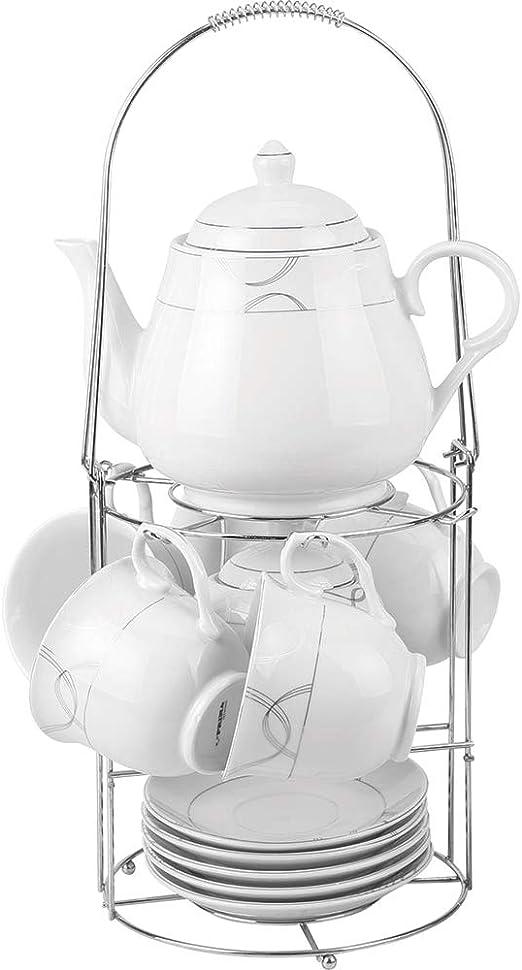 Guilty Gadgets - Juego de té de cerámica con Soporte para cafetera ...