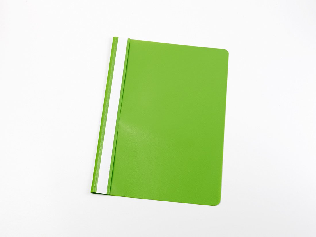 100 Schnellhefter DIN A4 / PP / Farbe: hell-grün /