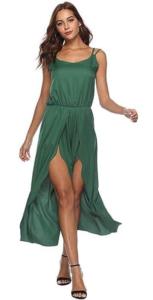 6b1bc56f7f9 Litthing Mujer Mono Verde Elegante Cortos Verano Un Hombro Casual  Pantalones Ropa Vestir Cintura Alta Vendaje Ajustado Sexy: Amazon.es: Ropa  y accesorios