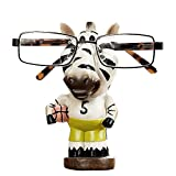YOURNELO Cute Resin Animal Eyeglass Holder with Piggy Bank for Decoration (Zebra 2)