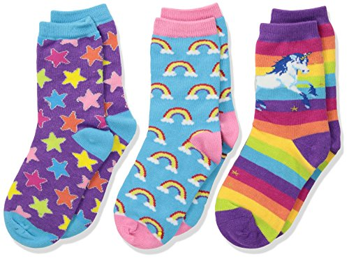 "Socksmith Kids Novelty Crew Socks 3-pack""Sparkle Party"" - Multi - Little Kid - 4-7 years"