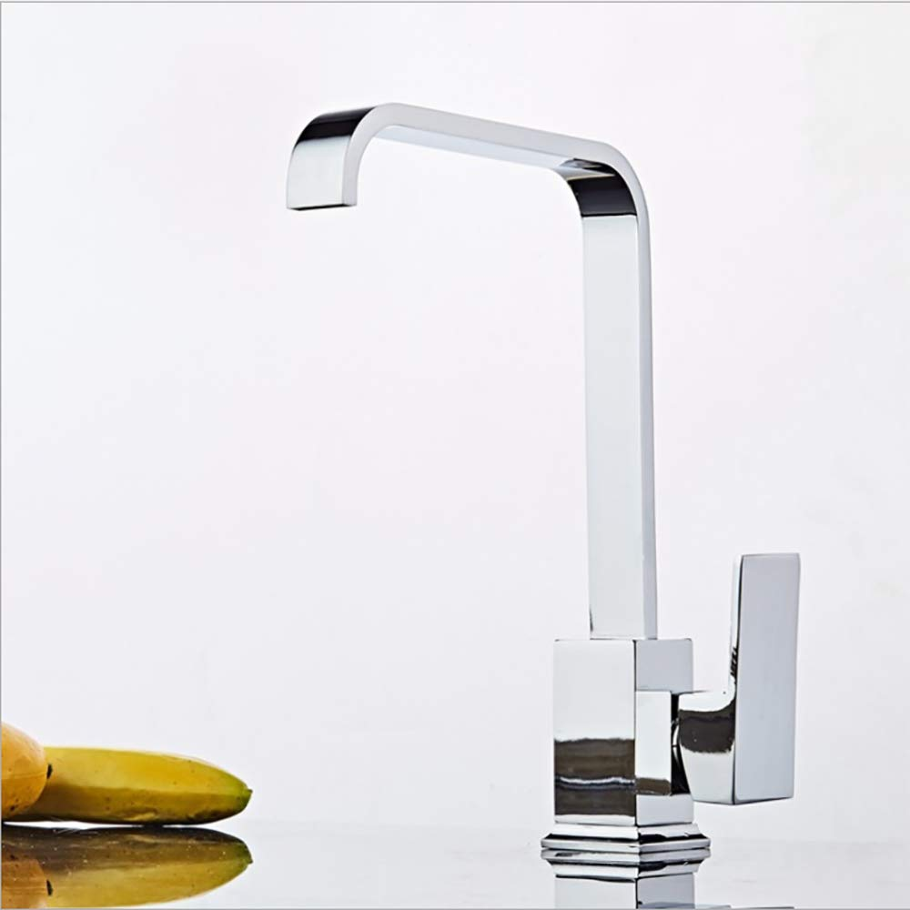 ANLD Küche Sink Mixer Tap, Küche Taps Mixer, Gooseneck High Arc Küche Faucet Swivel Spout Modern Luxury Elegant U001046