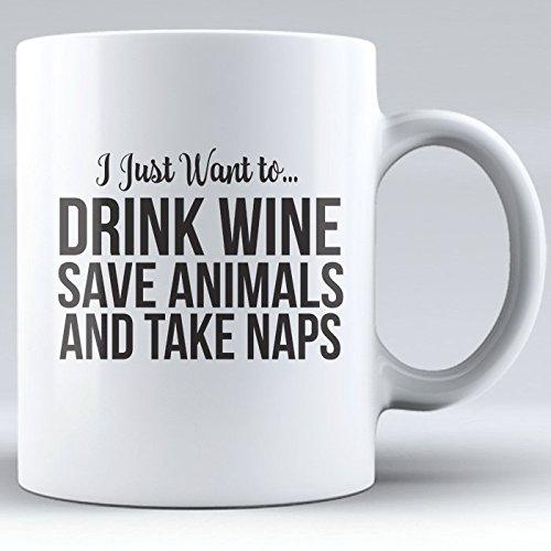 Wine Coffee Mug, Alcohol Drinking Mug, Kombucha Mugs Funny, Drink Wine and Take Naps Mug, Novelty Mug, Mug for Mom, Sister, Aunt, Friend (white, 11 oz)