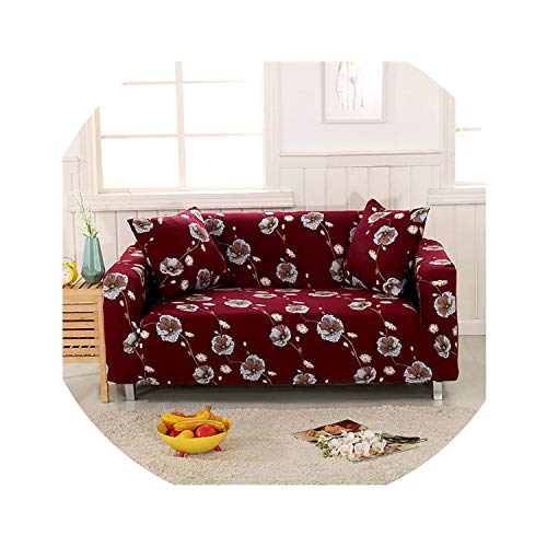 Elastic Sofa Cover Sectional Stretch Slipcovers for Living Room Couch Cover L Shape Armchair Cover Single/Two/Three/Four Seat,Color 10,3-Seater 190-230Cm